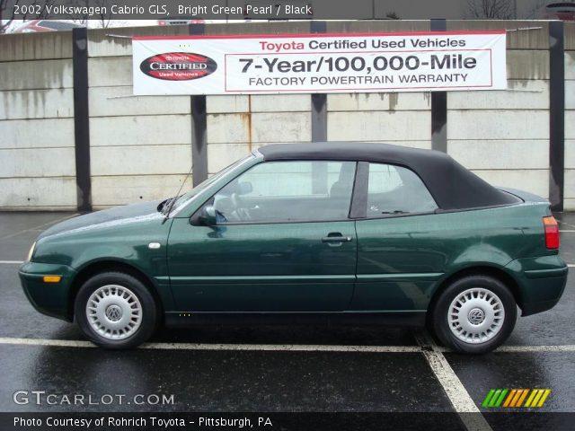 bright green pearl 2002 volkswagen cabrio gls black. Black Bedroom Furniture Sets. Home Design Ideas