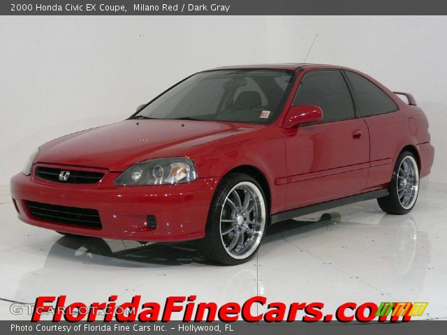 milano red 2000 honda civic ex coupe dark gray interior vehicle archive 441273. Black Bedroom Furniture Sets. Home Design Ideas
