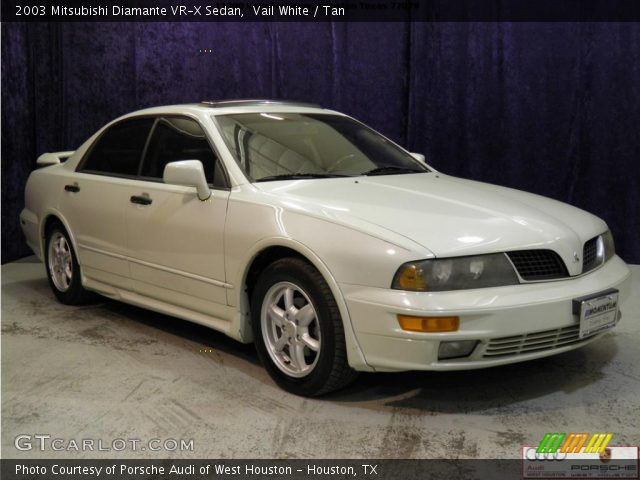 vail white - 2003 mitsubishi diamante vr-x sedan - tan interior