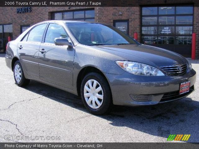 phantom gray pearl 2006 toyota camry le taupe interior vehicle archive 4553632. Black Bedroom Furniture Sets. Home Design Ideas