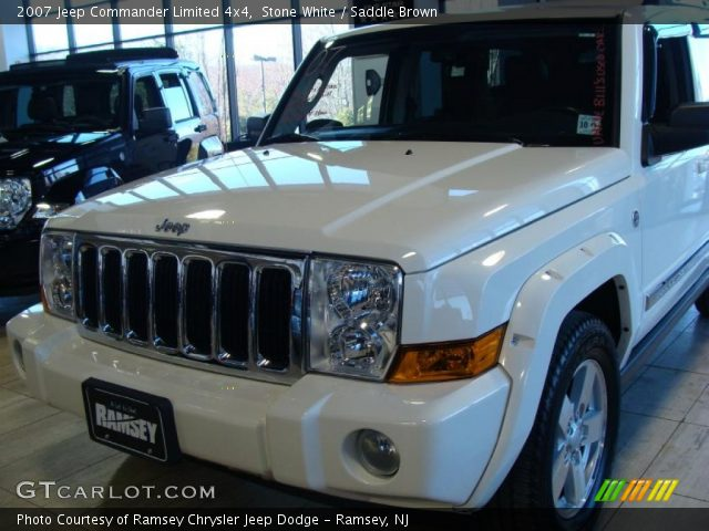 stone white 2007 jeep commander limited 4x4 saddle. Black Bedroom Furniture Sets. Home Design Ideas