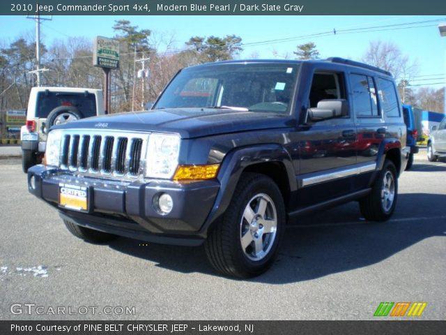 Modern blue pearl 2010 jeep commander sport 4x4 dark slate gray interior gtcarlot com