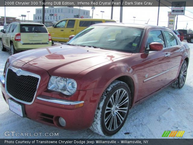 inferno red crystal pearl 2008 chrysler 300 touring dub edition dark slate gray interior. Black Bedroom Furniture Sets. Home Design Ideas