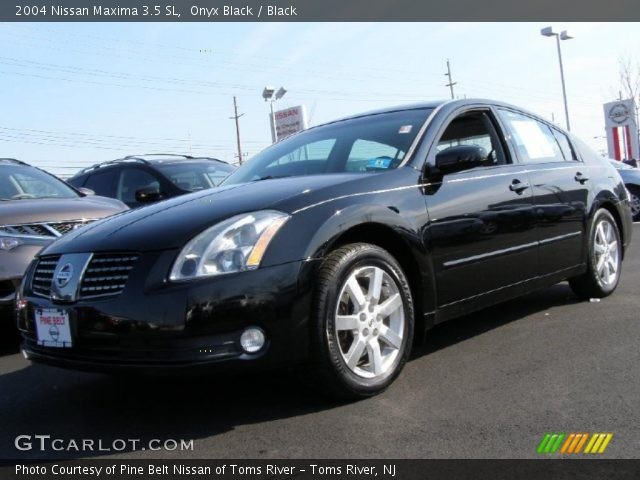 onyx black 2004 nissan maxima 3 5 sl black interior. Black Bedroom Furniture Sets. Home Design Ideas