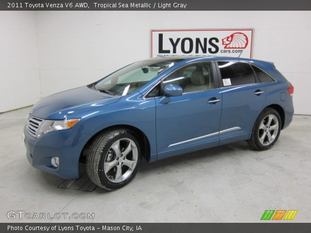tropical sea metallic 2011 toyota venza v6 awd light. Black Bedroom Furniture Sets. Home Design Ideas