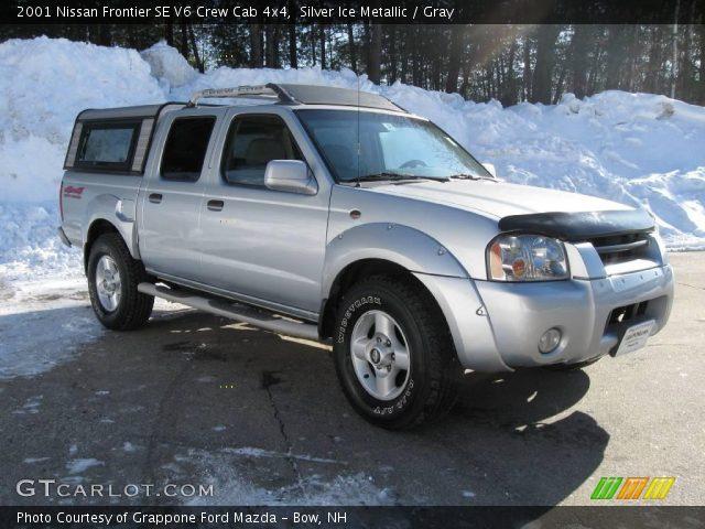 Silver Ice Metallic 2001 Nissan Frontier Se V6 Crew Cab