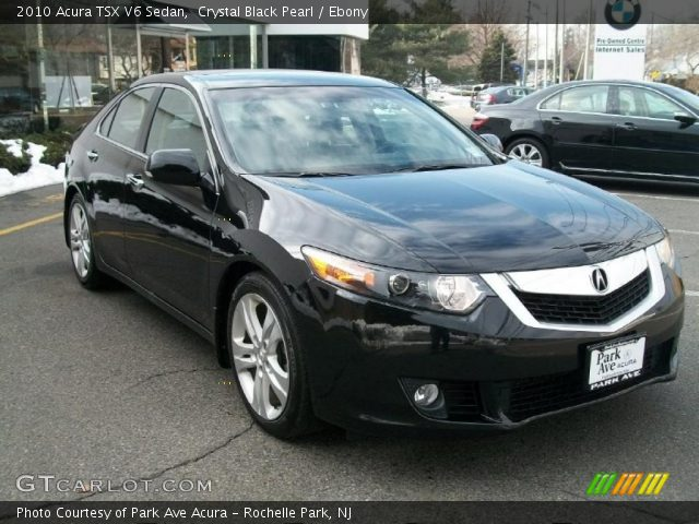 crystal black pearl 2010 acura tsx v6 sedan ebony. Black Bedroom Furniture Sets. Home Design Ideas