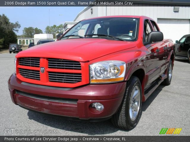 flame red 2006 dodge ram 1500 sport quad cab medium slate gray interior. Black Bedroom Furniture Sets. Home Design Ideas