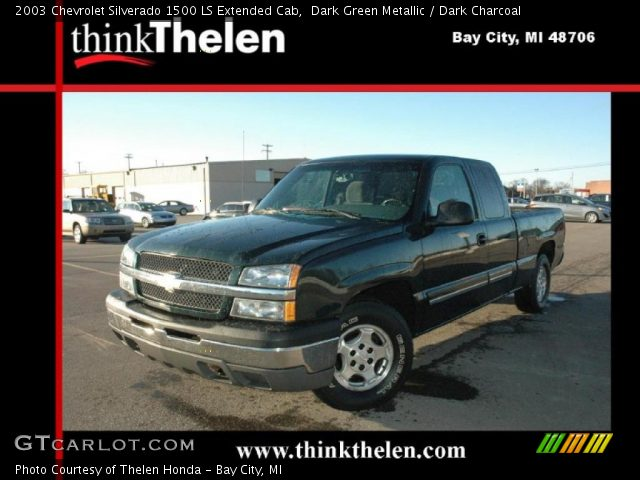 2003 Chevrolet Silverado 1500 LS Extended Cab in Dark Green Metallic