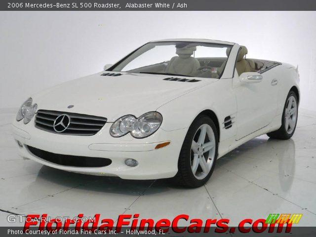 alabaster white 2006 mercedes benz sl 500 roadster ash interior vehicle. Black Bedroom Furniture Sets. Home Design Ideas