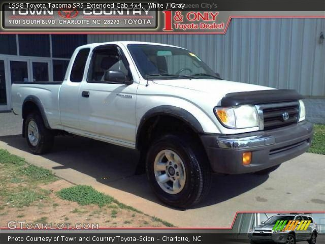 white 1998 toyota tacoma sr5 extended cab 4x4 gray. Black Bedroom Furniture Sets. Home Design Ideas