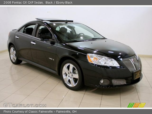 Black 2008 Pontiac G6 Gxp Sedan Ebony Black Interior