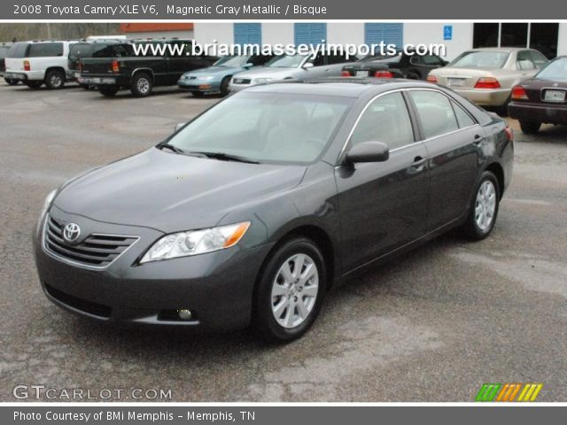 magnetic gray metallic 2008 toyota camry xle v6 bisque interior vehicle. Black Bedroom Furniture Sets. Home Design Ideas