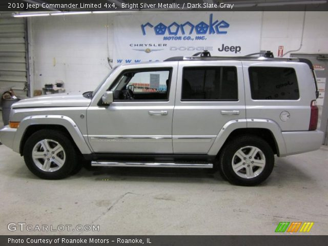 Bright Silver Metallic 2010 Jeep Commander Limited 4x4 Dark Slate Gray Interior Gtcarlot