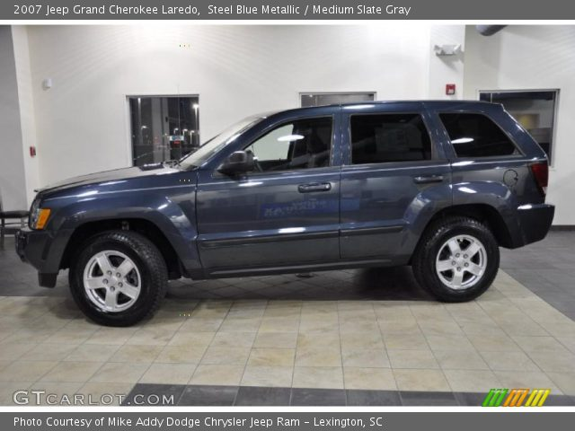 steel blue metallic 2007 jeep grand cherokee laredo medium slate gray interior gtcarlot. Black Bedroom Furniture Sets. Home Design Ideas