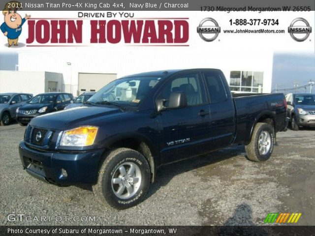 navy blue 2011 nissan titan pro 4x king cab 4x4 charcoal interior vehicle. Black Bedroom Furniture Sets. Home Design Ideas