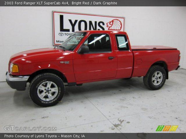 2003 Ford Ranger Xlt Supercab. Bright Red 2003 Ford Ranger