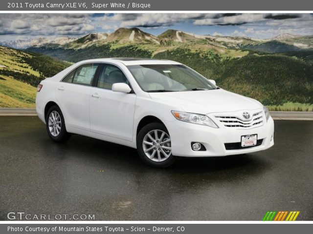 super white 2011 toyota camry xle v6 bisque interior. Black Bedroom Furniture Sets. Home Design Ideas