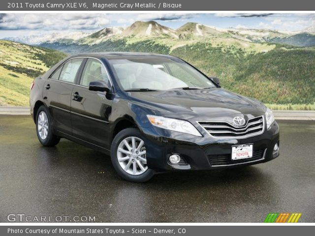 magnetic gray metallic 2011 toyota camry xle v6 bisque. Black Bedroom Furniture Sets. Home Design Ideas