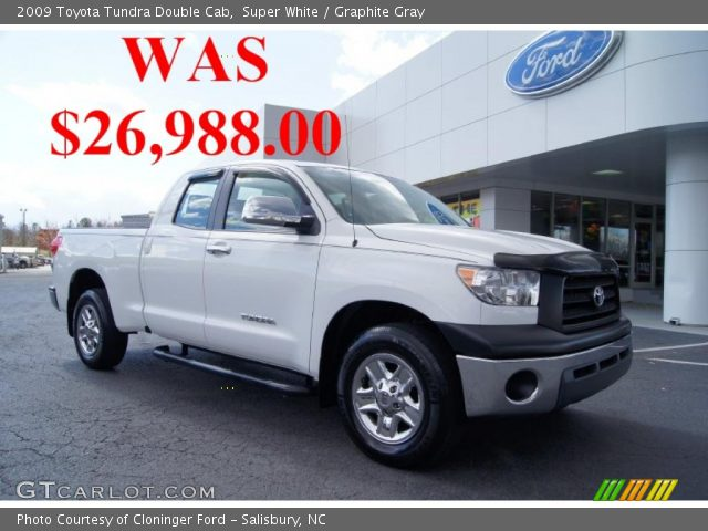 super white 2009 toyota tundra double cab graphite. Black Bedroom Furniture Sets. Home Design Ideas