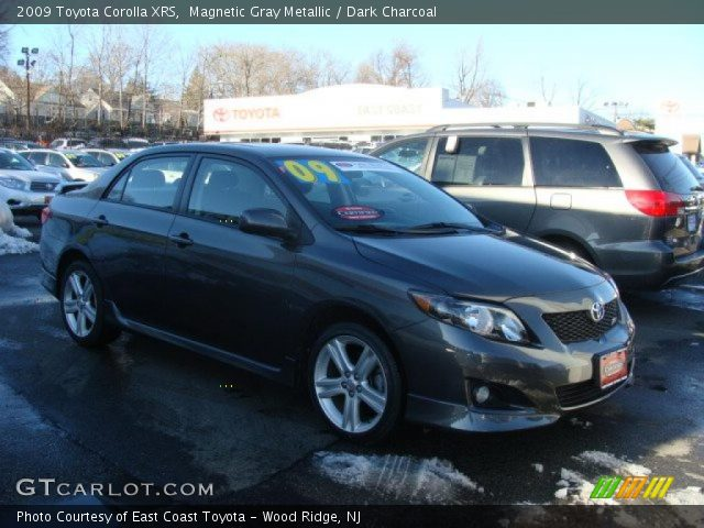 magnetic gray metallic 2009 toyota corolla xrs dark. Black Bedroom Furniture Sets. Home Design Ideas