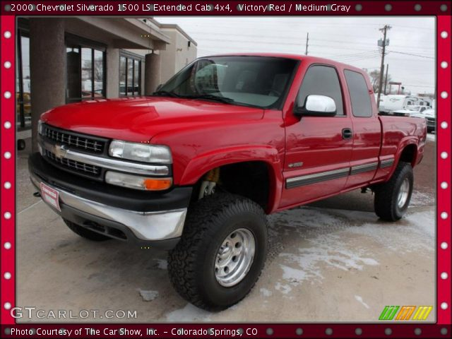 2000 Chevrolet Silverado 1500 LS Extended Cab 4x4 in Victory Red