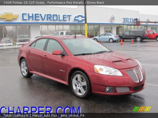 Performance Red Metallic 2008 Pontiac G6 Gxp Sedan
