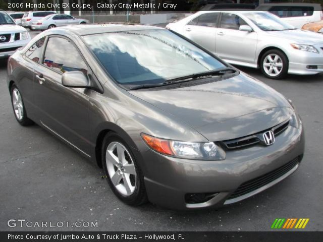 galaxy gray metallic 2006 honda civic ex coupe gray. Black Bedroom Furniture Sets. Home Design Ideas