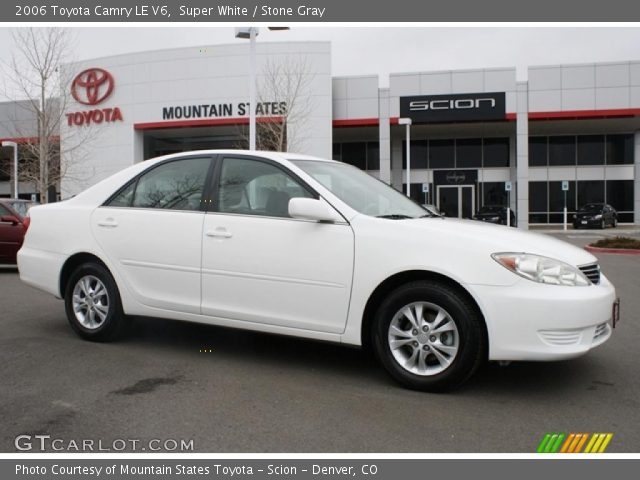 super white 2006 toyota camry le v6 stone gray. Black Bedroom Furniture Sets. Home Design Ideas