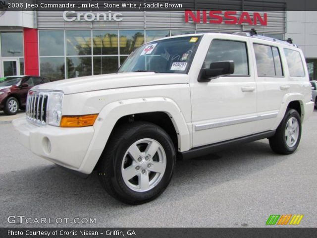 stone white 2006 jeep commander limited saddle brown interior vehicle. Black Bedroom Furniture Sets. Home Design Ideas