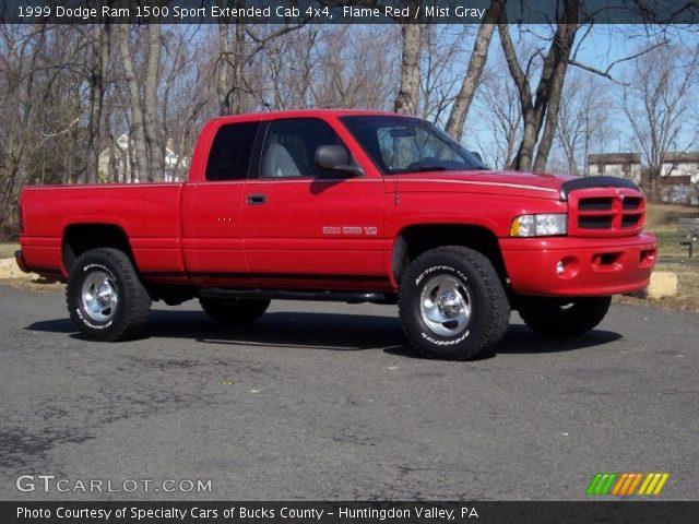 flame red 1999 dodge ram 1500 sport extended cab 4x4. Black Bedroom Furniture Sets. Home Design Ideas