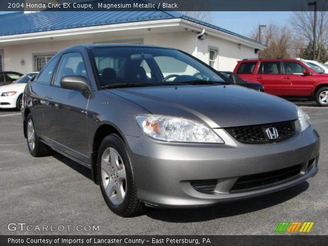 Magnesium Metallic 2004 Honda Civic Ex Coupe Black Interior Vehicle Archive