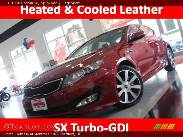 2011 Kia Optima SX in Spicy Red