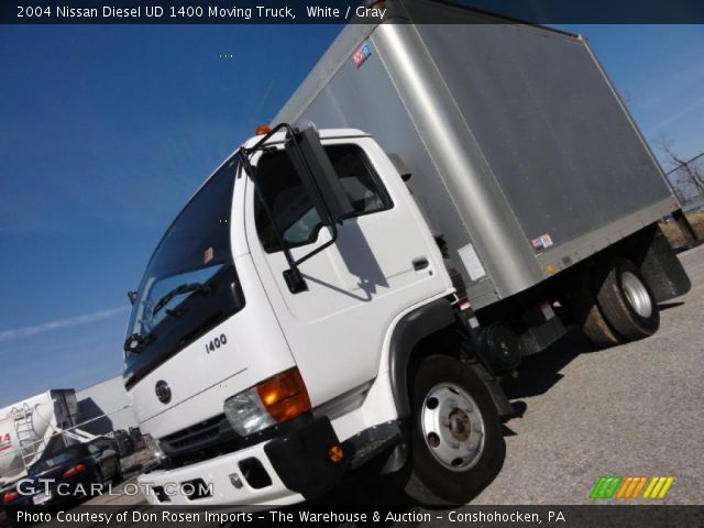 2004 Nissan Diesel UD 1400 Moving Truck in White