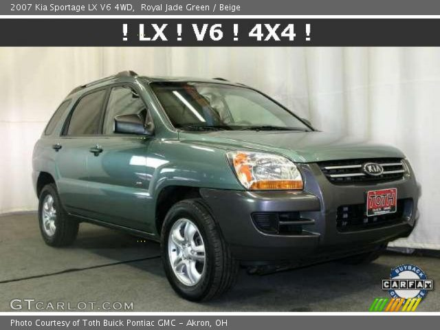 2007 Kia Sportage LX V6 4WD in Royal Jade Green