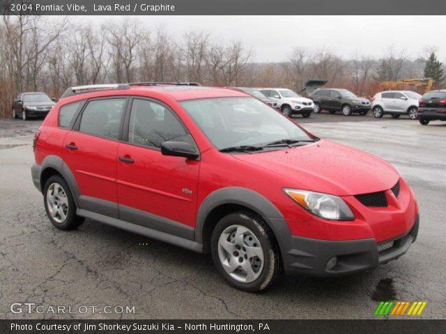 2004 Pontiac Vibe  in Lava Red