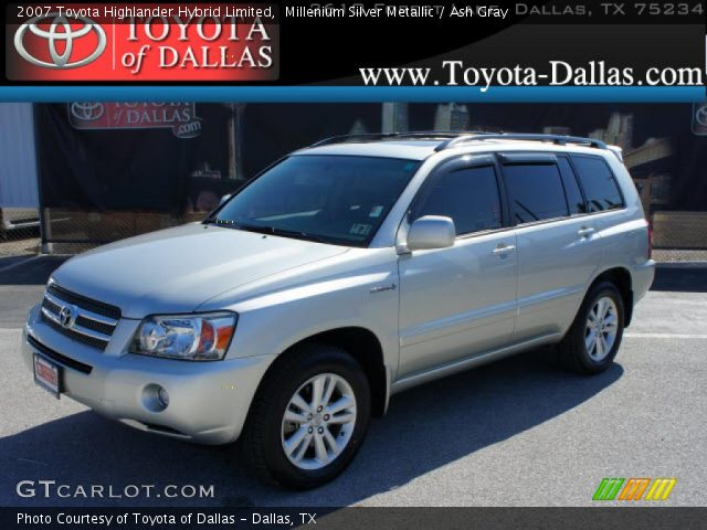millenium silver metallic 2007 toyota highlander hybrid limited ash gray interior gtcarlot. Black Bedroom Furniture Sets. Home Design Ideas