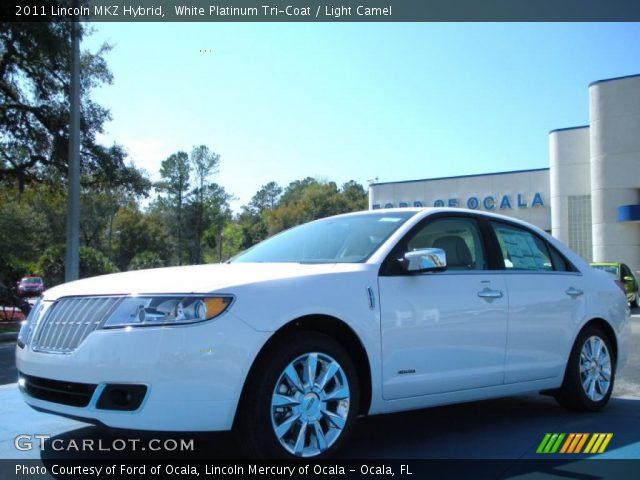 2011 Lincoln MKZ Hybrid in White Platinum Tri-Coat