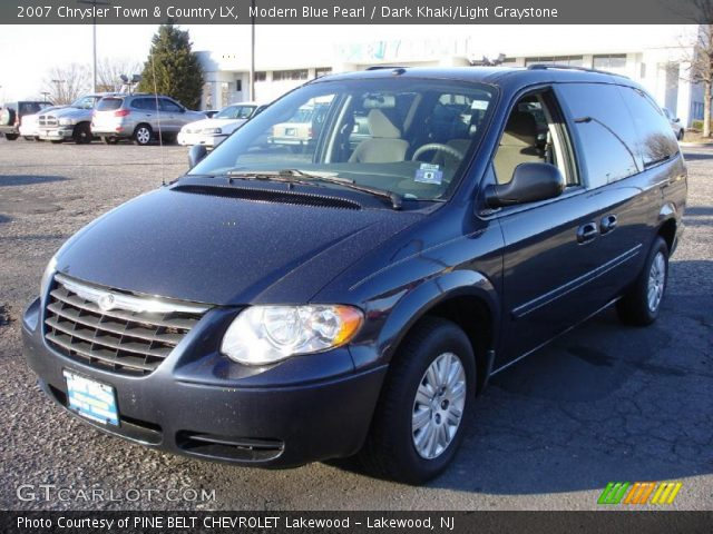 modern blue pearl 2007 chrysler town country lx dark khaki light. Cars Review. Best American Auto & Cars Review