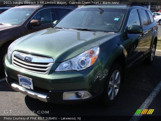 cypress green pearl 2011 subaru outback 3 6r limited. Black Bedroom Furniture Sets. Home Design Ideas