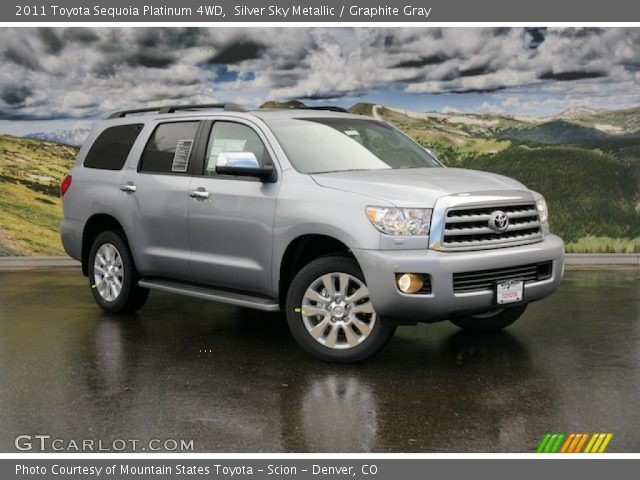 silver sky metallic 2011 toyota sequoia platinum 4wd. Black Bedroom Furniture Sets. Home Design Ideas