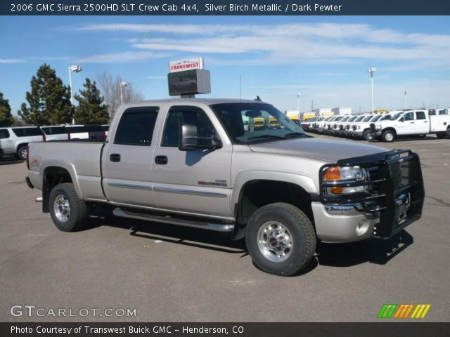 silver birch metallic 2006 gmc sierra 2500hd slt crew. Black Bedroom Furniture Sets. Home Design Ideas