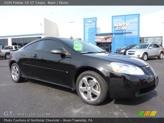 black 2006 pontiac g6 gt coupe ebony interior vehicle archive 46183415. Black Bedroom Furniture Sets. Home Design Ideas