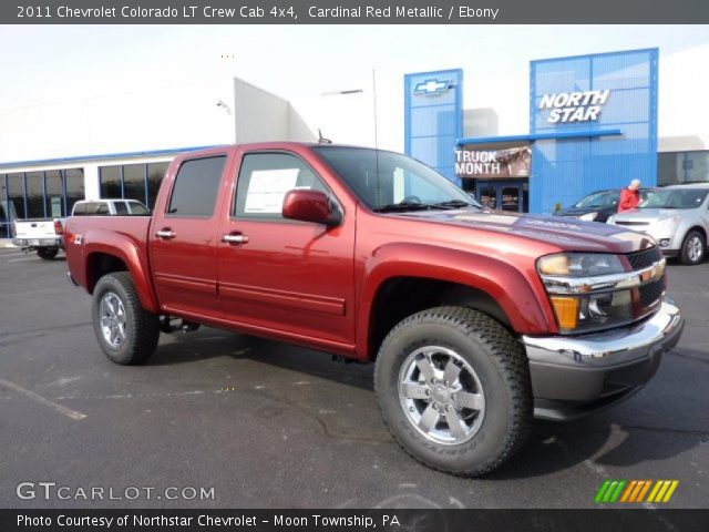 cardinal red metallic 2011 chevrolet colorado lt crew. Black Bedroom Furniture Sets. Home Design Ideas