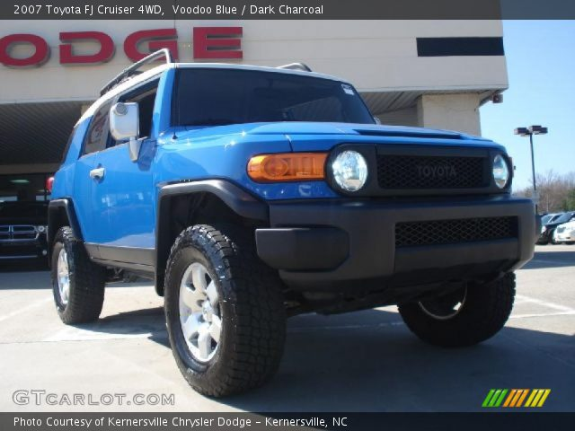 Voodoo Blue  2007 Toyota FJ Cruiser 4WD  Dark Charcoal Interior