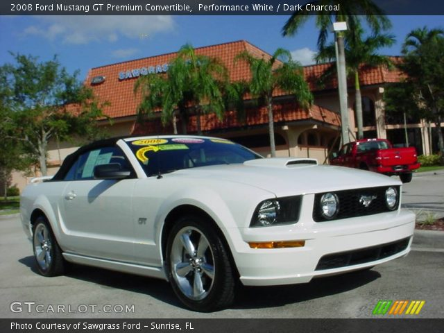 performance white 2008 ford mustang gt premium. Black Bedroom Furniture Sets. Home Design Ideas