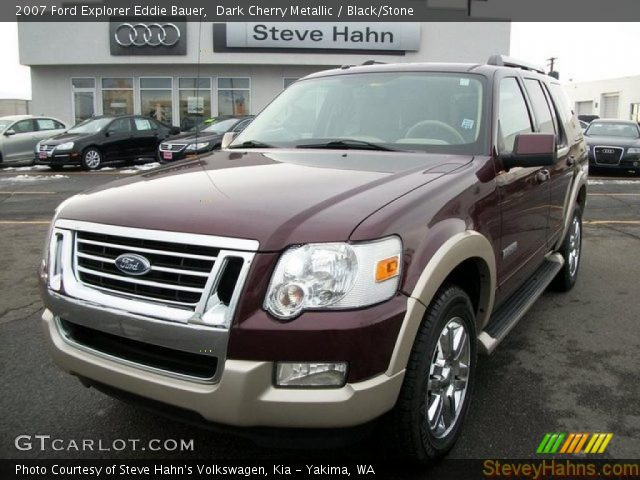 dark cherry metallic 2007 ford explorer eddie bauer black stone interior. Black Bedroom Furniture Sets. Home Design Ideas