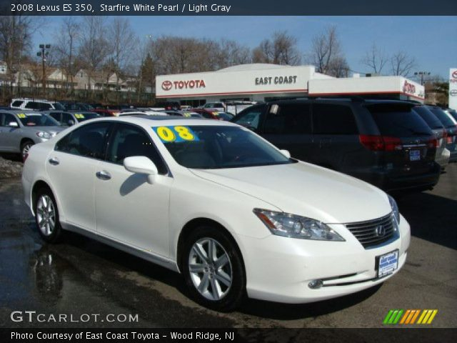 starfire white pearl 2008 lexus es 350 light gray. Black Bedroom Furniture Sets. Home Design Ideas