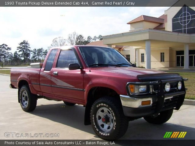1993 Toyota Pickup Deluxe Extended Cab 4x4 in Garnet Red Pearl