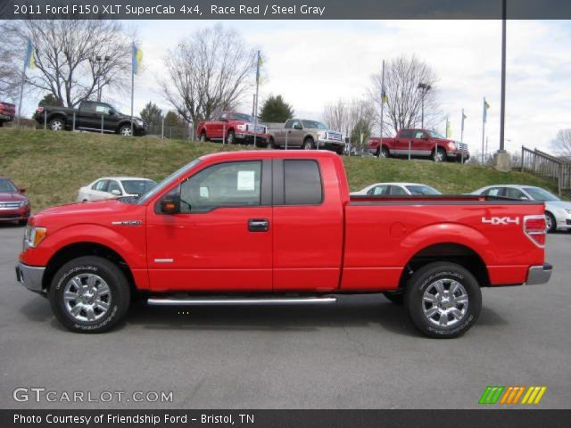 race red 2011 ford f150 xlt supercab 4x4 steel gray interior vehicle. Black Bedroom Furniture Sets. Home Design Ideas
